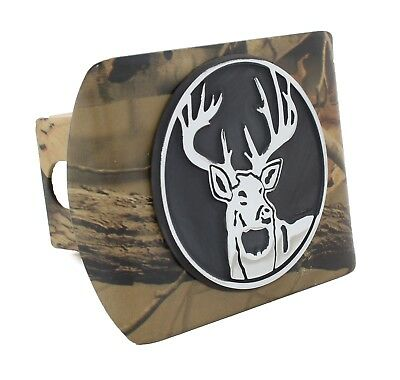 Buck Emblem Hitch Receiver Cover - Metal!