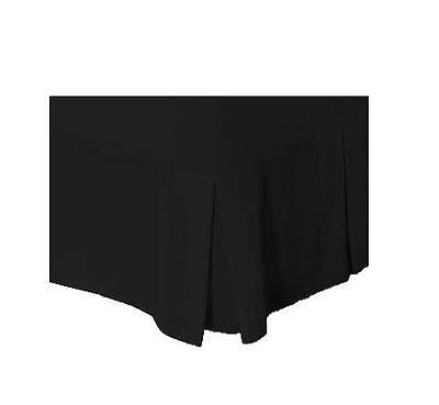 Black * KING SINGLE Size Box Pleated Valance / Bed Skirt  * 250 TC Percale