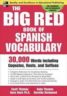 NEW The Big Red Book of Spanish Vocabulary: 30,000 Words Including Cognates, Roo