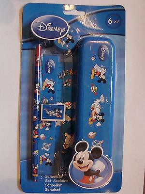 6 tlg.Schulset  Disney  Mickey Mouse