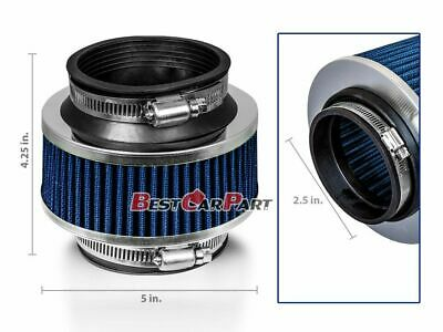 "2.5"" Inches Cold Air Intake Bypass Valve Filter 63 mm BLUE BMW"