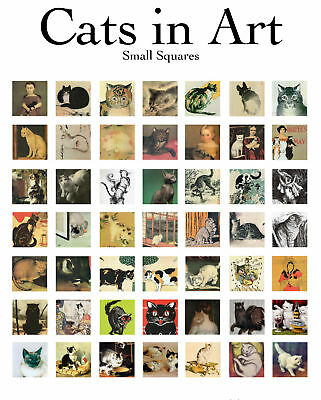 Cats Kitty Animal Collage Sheet Scrabble .875 49 Images