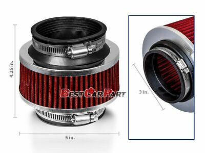 "3"" Inches Cold Air Intake Bypass Valve Filter 76mm RED BMW"