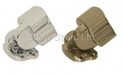 Solution Stair Parts Adjustable Angle Handrail Connector Chrome or Brushed Metal
