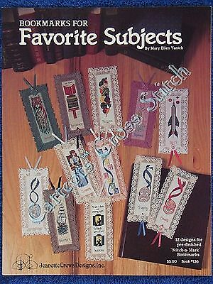 Cross Stitch Pattern Bookmarks Favourite Subjects 12