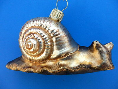 SNAIL BLOWN GLASS CHRISTMAS TREE ORNAMENT
