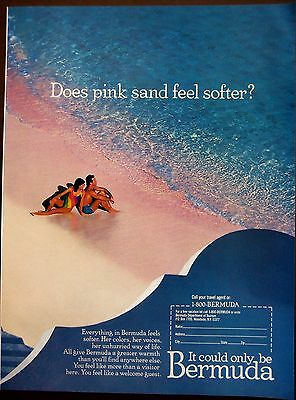 1989 BERMUDA relaxing beach vacation vintage travel ad