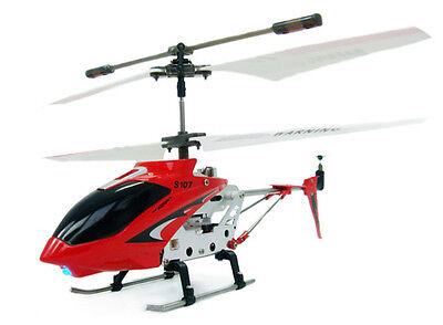 Genuine Gyro Syma S107 Syma S107G Remote Control RadioToy Helicopter - Red
