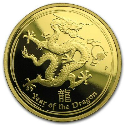 Australia 2012 Year of Dragon 1/10 Oz Gold Proof $15