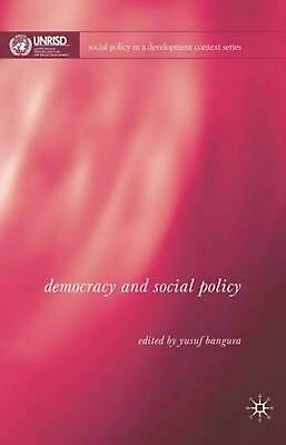 NEW Democracy and Social Policy by Hardcover Book (English) Free Shipping