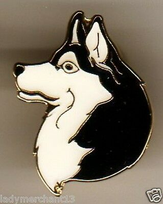 HUSKIE (Black and White) Enamel Lapel Pins, Wholesale Lot of 25, ALL NEW LINE!