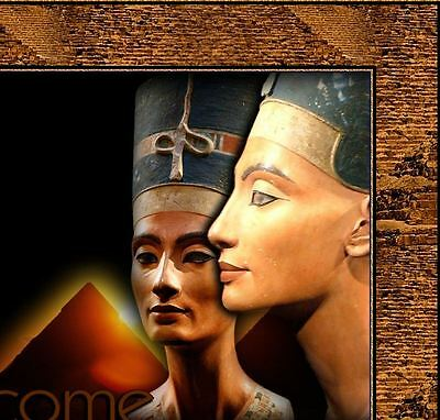 Nefertiti Egyptian eBay Listing Auction Template gold glitter pyramid EASY 4 U