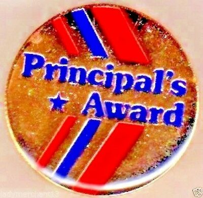 """Principal's Award"" Red/Blue Stripe Enamel Lapel Pins/Wholesale Lot 25/All New!"