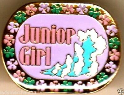 """Junior Girl"" Oval Floral Enamel Lapel Pins, Wholesale Lot of 25! ALL NEW!"