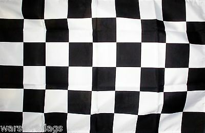 BLACK & WHITE CHECKERED FLAG 5x3 motor sport racing rally FLAGS SPORTING