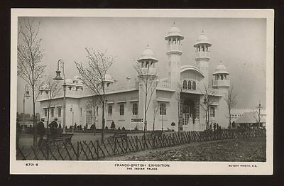 FRANCO-BRITISH Exhibition Indian Palace RP PPC
