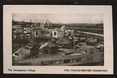 FRANCO-BRITISH Exhibition Senegalese Village RP PPC
