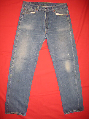 D3125 levis 501 prewash jeans 36x32 vintage fade made in the U.S.A.