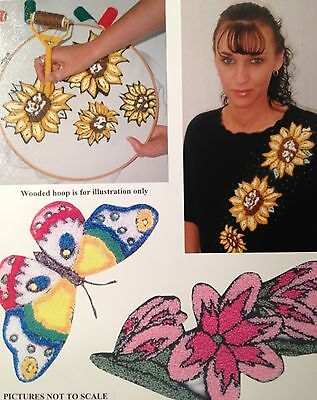 Webster Craft Beautiful Flowers Punch Needle Embroidery Starter Kit