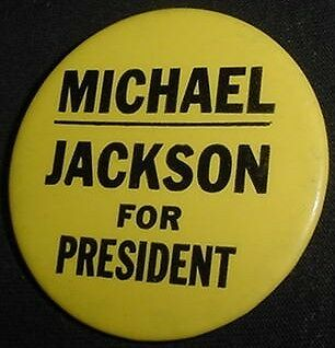 1984 Vtg  Michael Jackson For President 1984 Pin Not Captain Eo..one Of A Kind