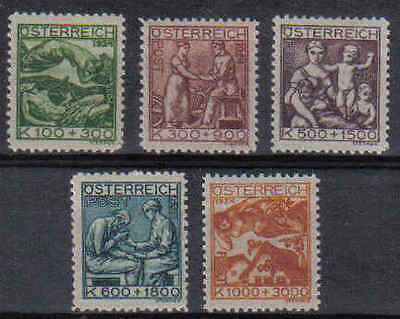 STAMPS   from  AUSTRIA   1924  ARTISTS CHARITY FUND    (MLH/MINT)  lot 155