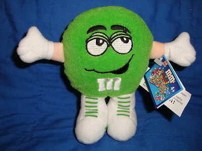 Green M&M's Minis Candy holder Plush Hasbro 2000 W/Tags