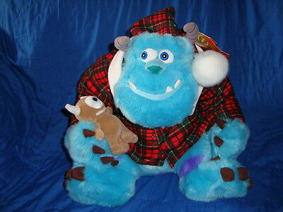 Monsters Inc SULLEY Christmas Plush Disney Store 11""