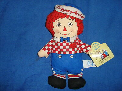 "Raggedy Andy Applause Plush Beanbag 7.5"" W/Tags"
