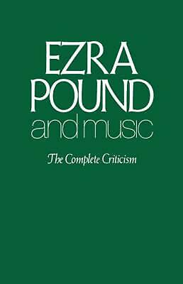 NEW Ezra Pound and Music by Paperback Book (English) Free Shipping