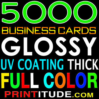 5000 FULL COLOR DOUBLE SIDED HI GLOSS CARD Free Design