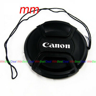 58mm Snap-on Lens Cap Cover with Cord strap for canon eos ef 18-55-250 75/300
