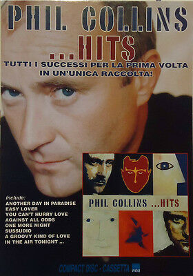 "Phil Collins : Cartonato Pubb. ""hits""   1998"