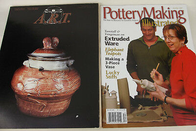 Lot 2 Magazine Back Issues A.R.T. Studio Clay Catalog 1986 Pottery Making 2005
