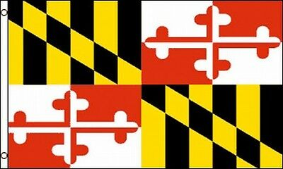 Maryland State Flag 3x5 ft w/ Brass Grommets Lord Baltimore Calvert Coat of Arms