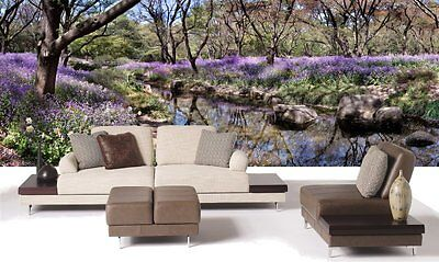 Spring reflections-Wall Mural-21'wide by 8'high