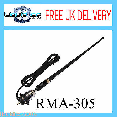 Rma305 Universal 1 Piece Rubber Wing Roof Mount Aerial Mast Antenna Replacement