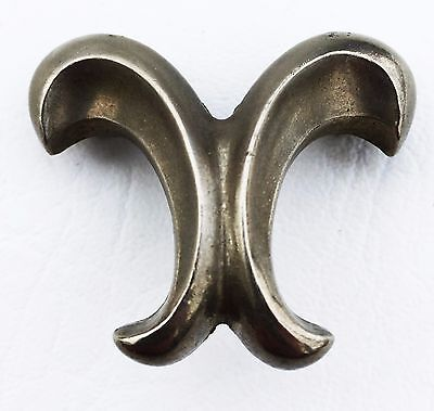 "Antique hardware Vintage French Provin. drawer pull Cabinet Knob 1 1/4"" center"
