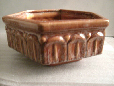 Vintage, Haeger ' Caramel Drip' look Hexagon Planter