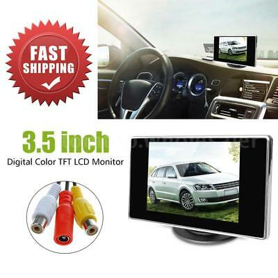 """NEW 3.5"""" TFT LCD Color Screen Car Rearview Monitor DVD VCR"""