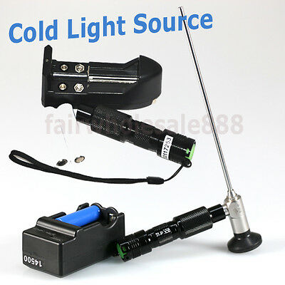 CE Portable Handheld LED Cold Light Source Endoscopy 3W-10W+RECHARGE BATTERY AAA