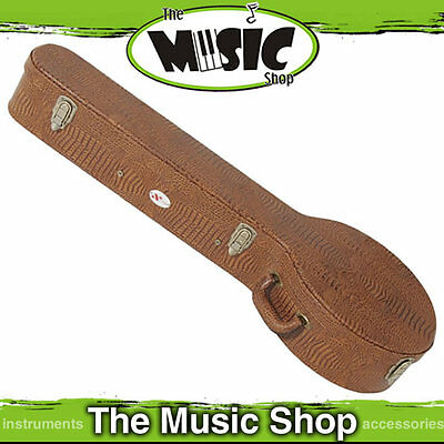 Xtreme Shaped Banjo Case - Plywood with Brown Crock Vinyl & Padded Interior New