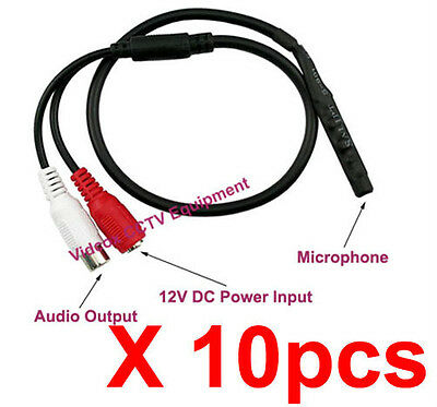 New 10X High Sensitive Mini Spy Hidden CCTV Microphone for CCTV Security System