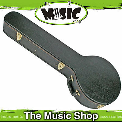 V Case Banjo Hard Case - Black Case with Padded Interior - New