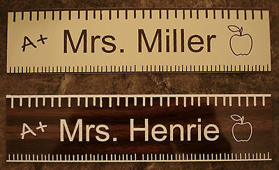 Personalized Teacher Gift Name Plate For Office Desk Or Door Sign Plaque