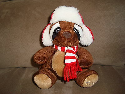 "Sears Raccoon 2009 Christmas Plush "" Reginald """