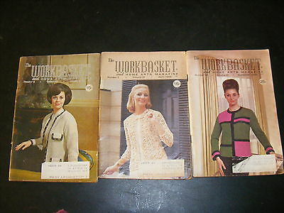 3 Vintage The Workbasket and Home Arts Magazines Mar Apr Sept 1966 Vol 31
