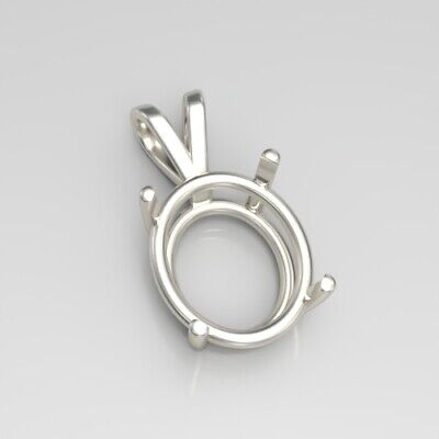(6x4mm - 30x22mm) Oval Solid Sterling Silver Pendant Setting