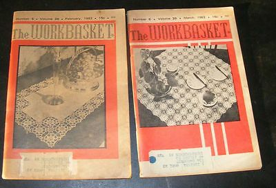 2 Vintage The Workbasket and Home Arts Magazines Feb March 1963 (15 Cents)