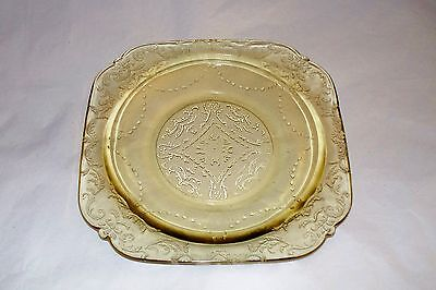 YELLOW DEPRESSION GLASS SAUCER MADRID FEDERAL A L@@K