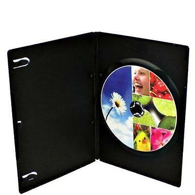 100-pk Generic Brand New Black Single Slim 7mm DVD Disc Storage Cases Holde Box